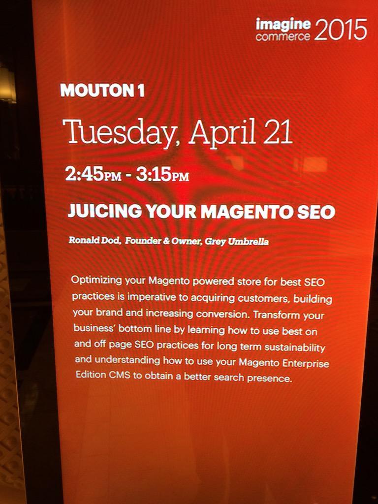GU_Marketing: Come see me speak at 2:45 @ #ImagineCommerce #imagine http://t.co/0ZU1QrdSvr