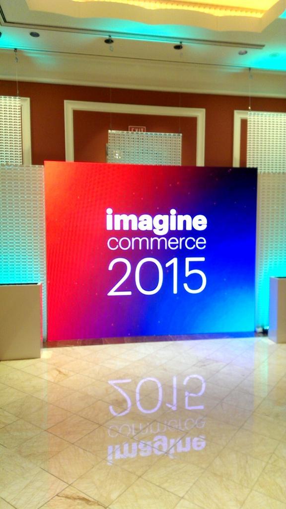 inspiratica: Let the fun begin! #ImagineCommerce http://t.co/9MMDTJO73q