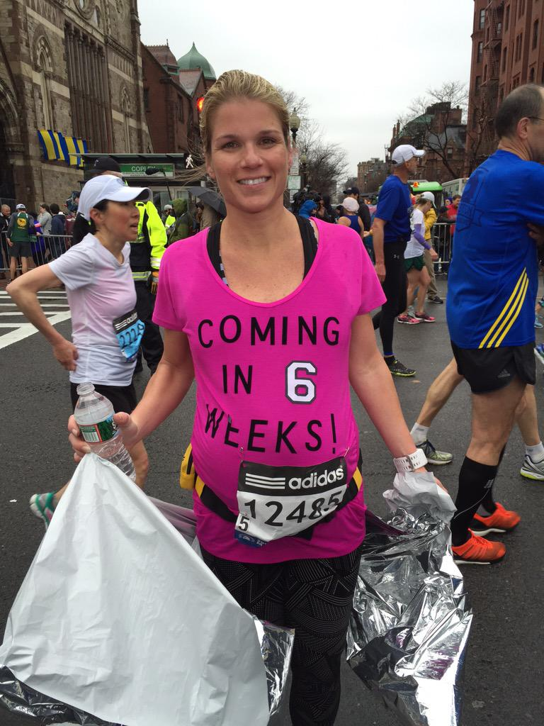 Woman Finishes Boston While 34 Weeks Pregnant