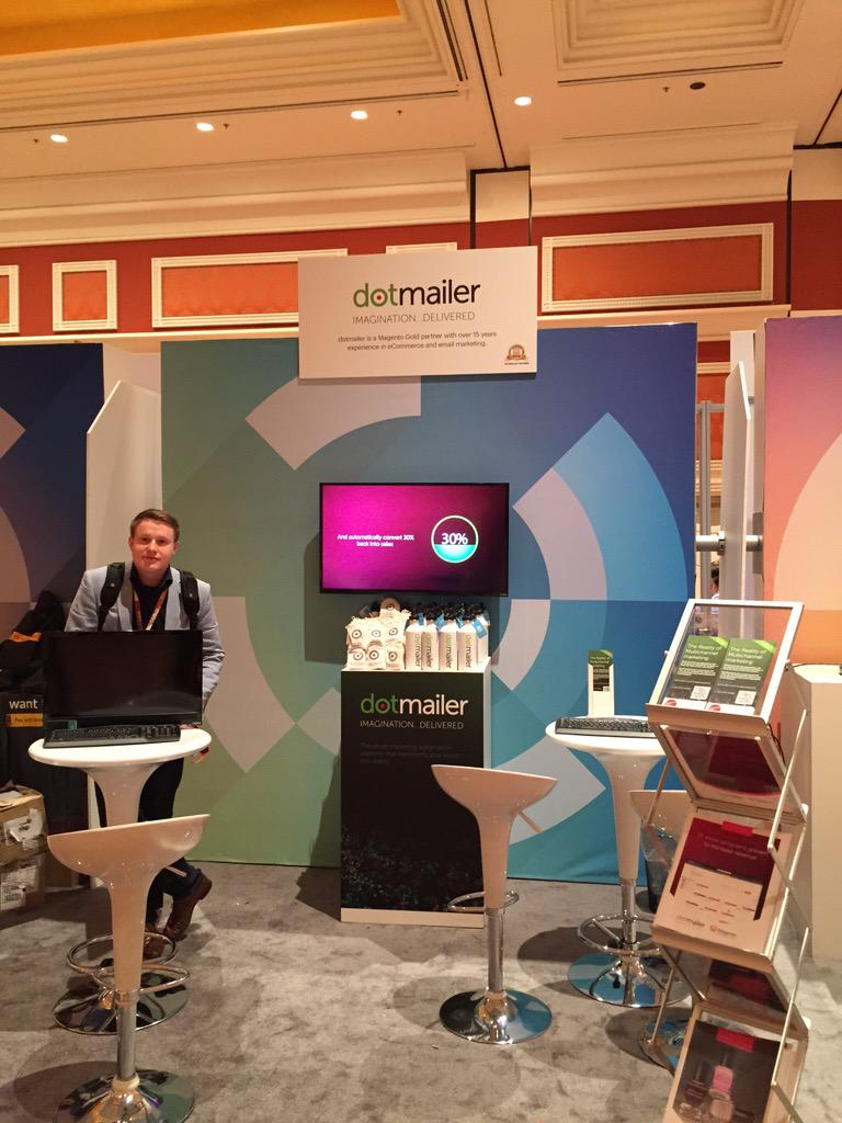 tinktaylor: .@dotmailer booth #205 all set up ready  to go #imaginecommerce http://t.co/InLU0QPSWj