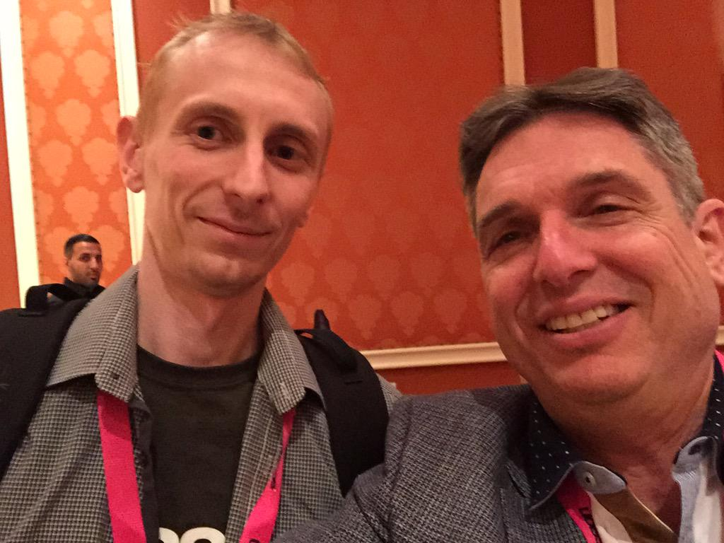 yairspitzer: Selfie with the main man! @jcowie nailed it! became an overnight celebrity! Respect! @sessiondigital #MagentoImagine http://t.co/3Pn0fQaoTF