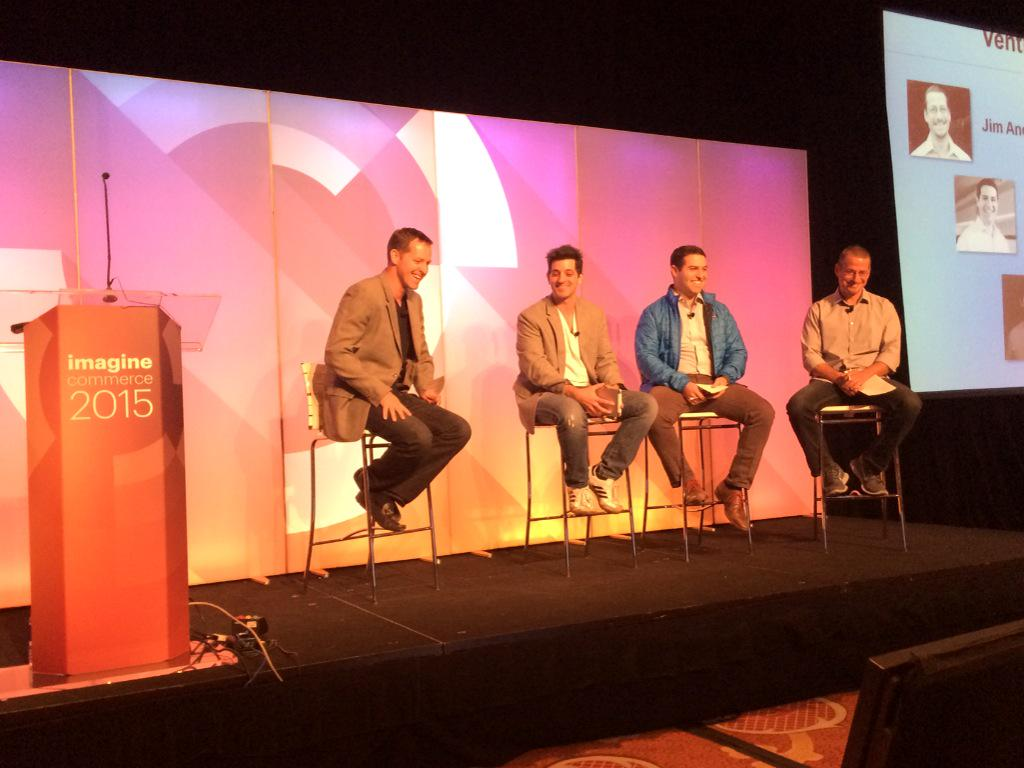 leeCommerce: @davelfink @mattgoldstein @jimandelman VC's in action with @socialryan at Startup Success session #ImagineCommerce http://t.co/Bd4fTpI59Q