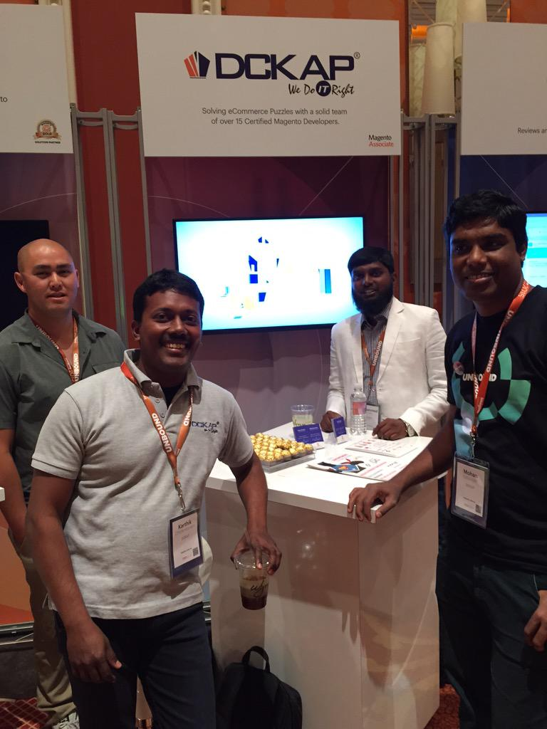 DCKAP: Meet the @DCKAP Team #ImagineCommerce Solving eCommerce puzzles with over 15 @magento certified developers. Booth #28 http://t.co/Nmi1klt28C