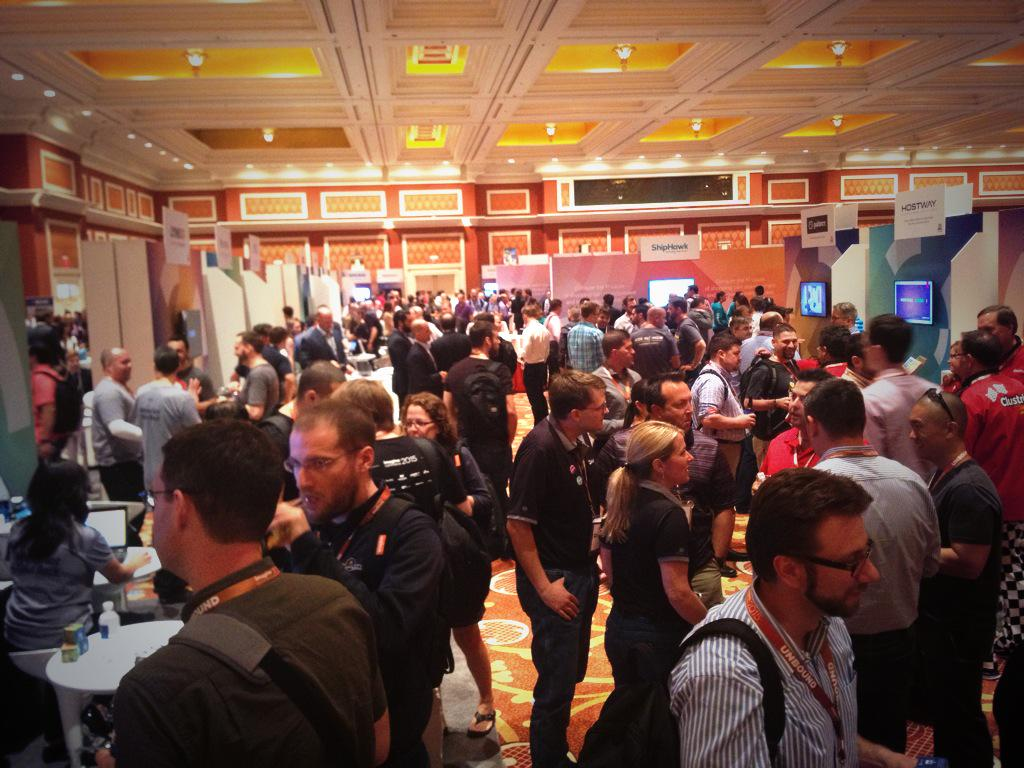 inchoo: #ImagineCommerce marketplace opening - the usual - a LOT of people, food, drinks, networking- better get here fast! http://t.co/fIMhw4qREa