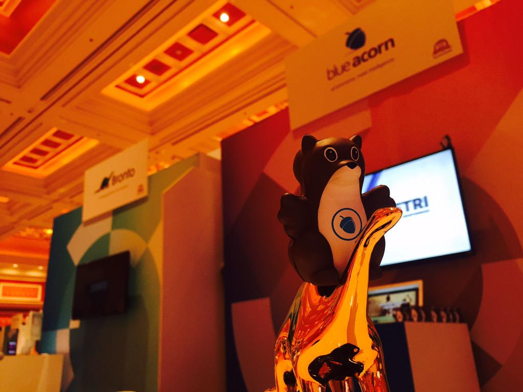 blueacorn: The #ImagineCommerce marketplace is open, and we've got squirrels riding golden dinosaurs. Only in Vegas. http://t.co/8nU4iHhrSf
