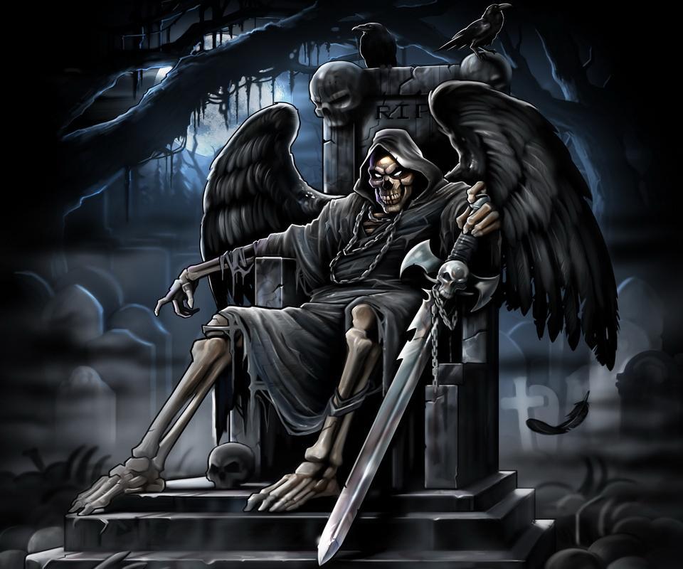 Картинки крутые скелеты на троне