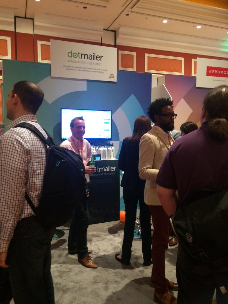 dotmailer: Marketplace at #ImagineCommerce just opened and we are busy giving demo's already. Come check us out! http://t.co/n3NlJwHTWB