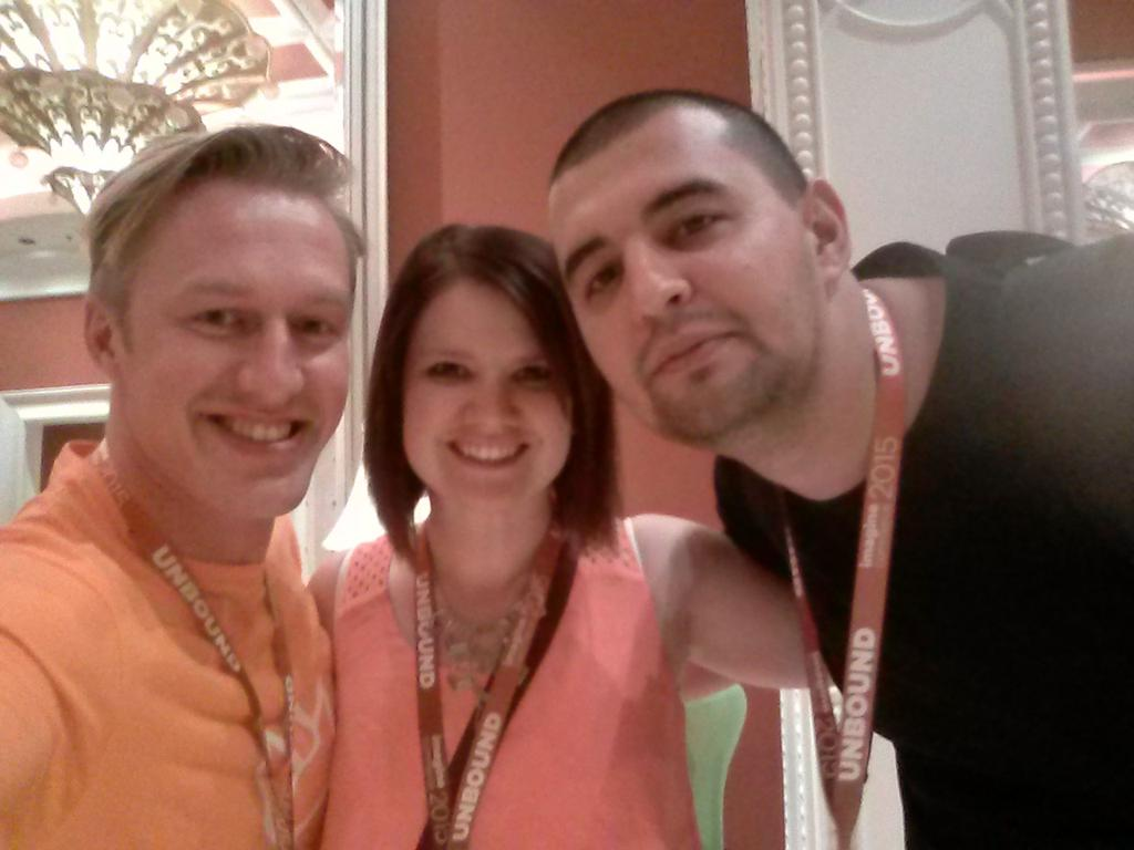 sherrierohde: Loving finding so much of the #realmagento community here, finally met up with @MariusStrajeru! #imaginecommerce http://t.co/rbKfI0S6EU