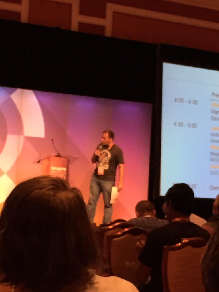 kab8609: .@benmarks kicking a things off at the third @magento 2 session. #ImagineCommerce http://t.co/EwjLXpVA7J