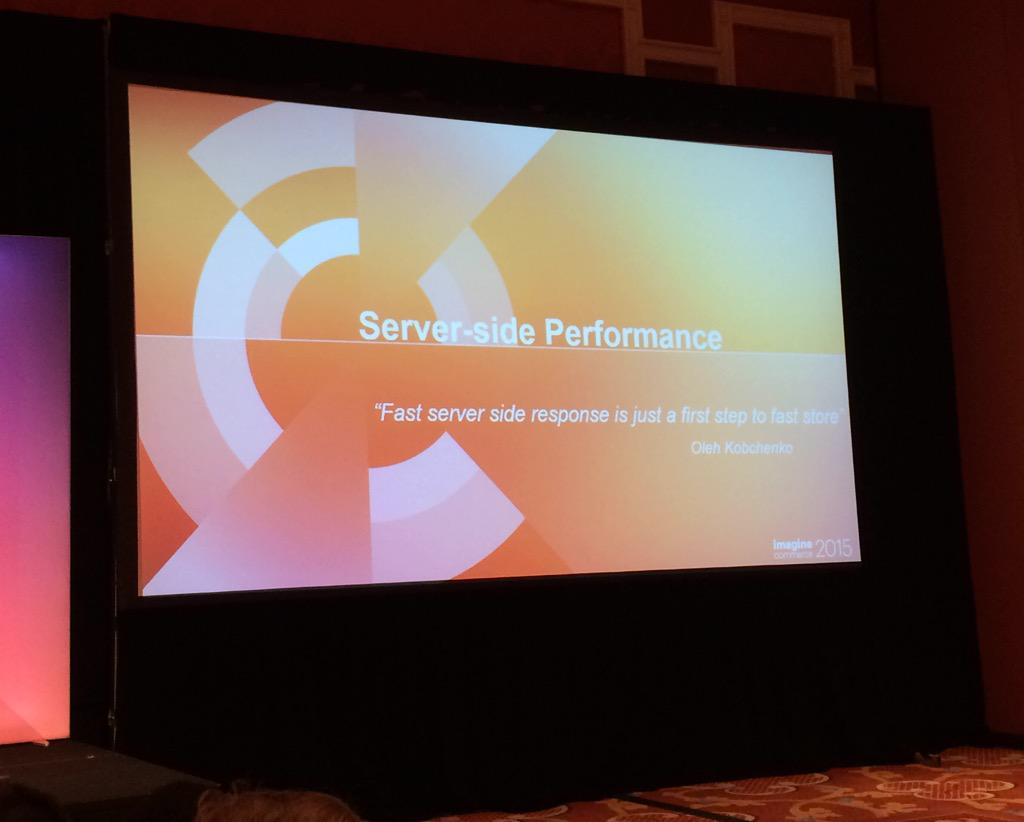 blackbooker: Fast server side response is just a first step to fast store.  #Magento2 #ImagineCommerce http://t.co/ASuQN4cszB