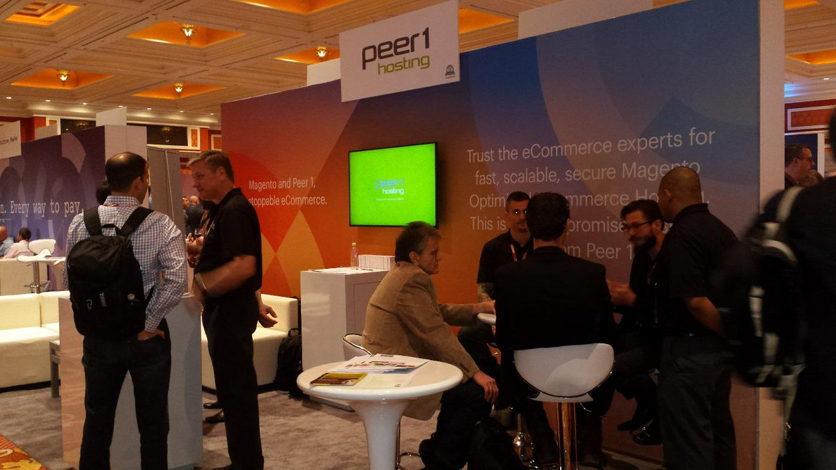 SaraUnderwood02: #ImagineCommerce is in full effect! Come see @PEER1 at booth 523! #UnstoppableeCommerce http://t.co/292dK4EPKV