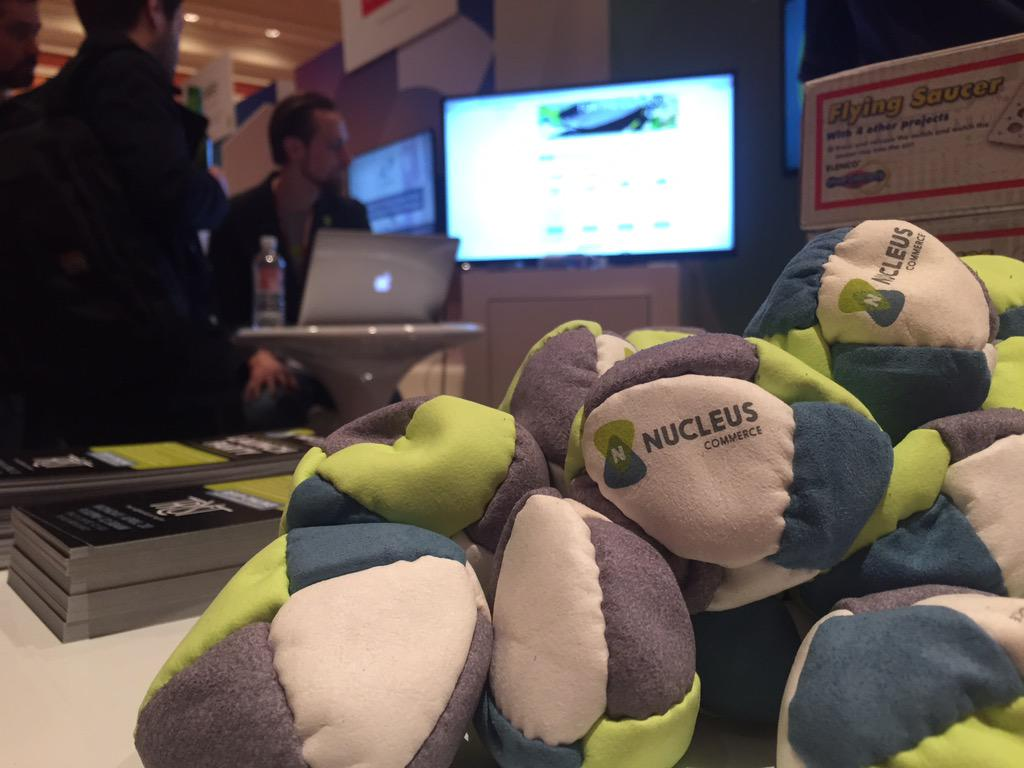 NucleusCommerce: Stop by our booth, say hi, get yourself a #nucleus footbag! #imaginecommerce http://t.co/Qfdw1CkpEZ