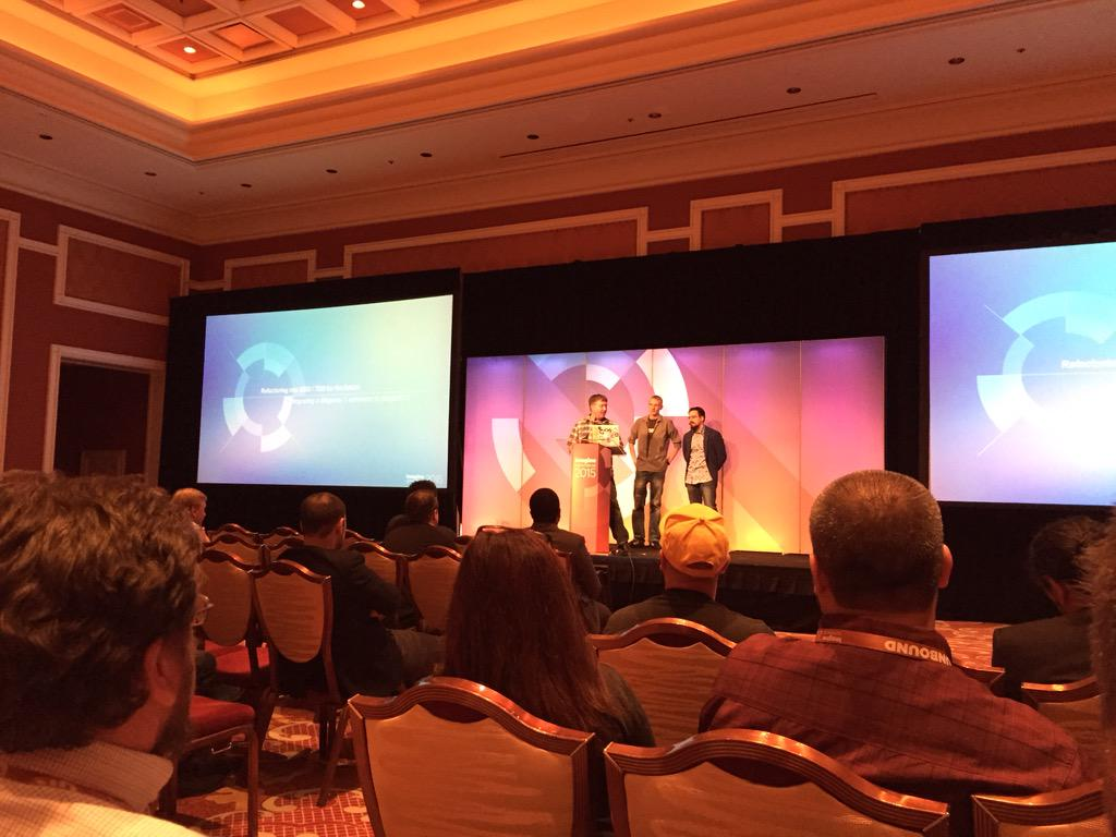 alistairstead: @jcowie @JoshuaSWarren @allanmacgregor bring #TDD #BDD Mage 1->2 to the #ImagineCommerce crowd http://t.co/RpOI5HHGLw