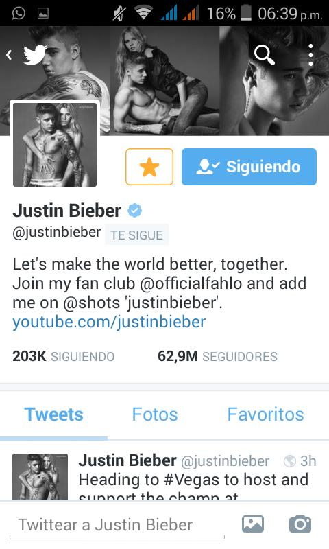 HE FOLLOWED ME, OMFG THANK YOU @justinbieber TE AMO MI AMOR, I WILL NEVER FORGET THIS DAY 20/04/2015 http://t.co/qpa0tmMQcR
