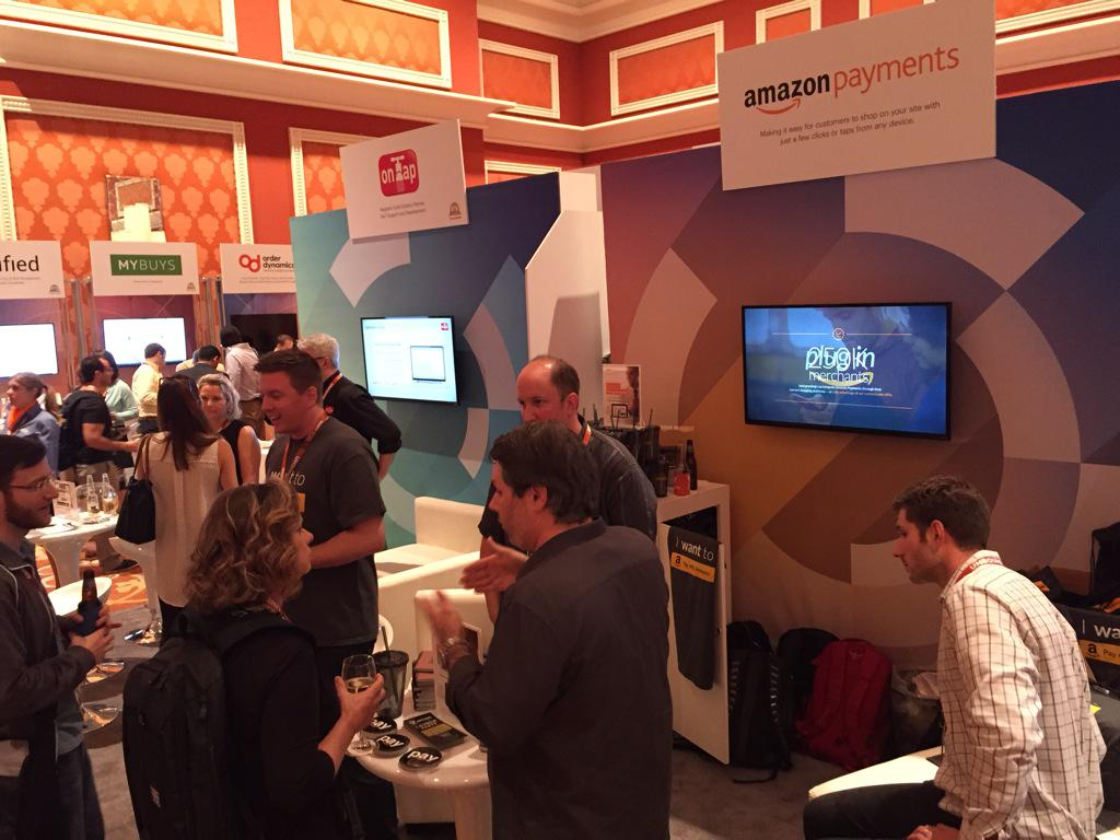 amazonpayments: We're excited to be at #ImagineCommerce 2015! Opening reception in full swing, come by and visit our booth! @magento http://t.co/MHlfjzjOB4