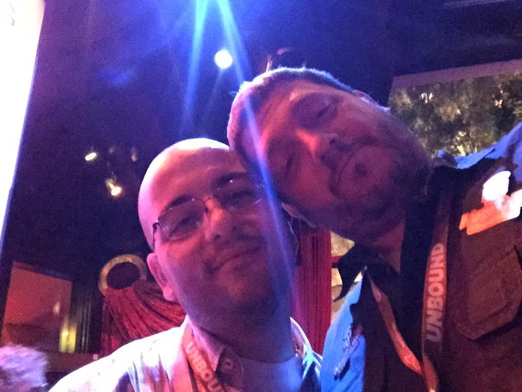 ignacioriesco: Con el sr @barbanet en @NucleusCommerce party #imagine2015 graaaaaaaaaaaaaaande. #miplatanovaaaale http://t.co/u8Yj9nWpum