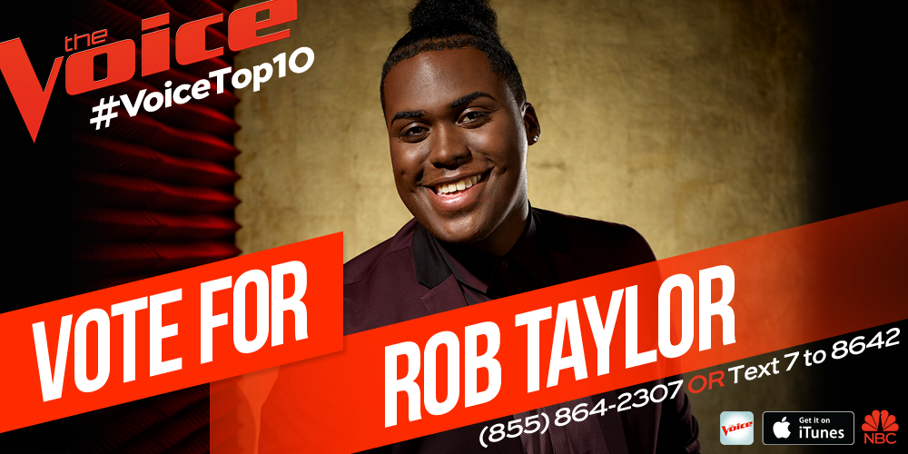 He is so special! RT @NBCTheVoice: RT if you want @ItsRobTaylor to represent #TeamXtina in the #VoiceTop8! http://t.co/rQIPjRopKx