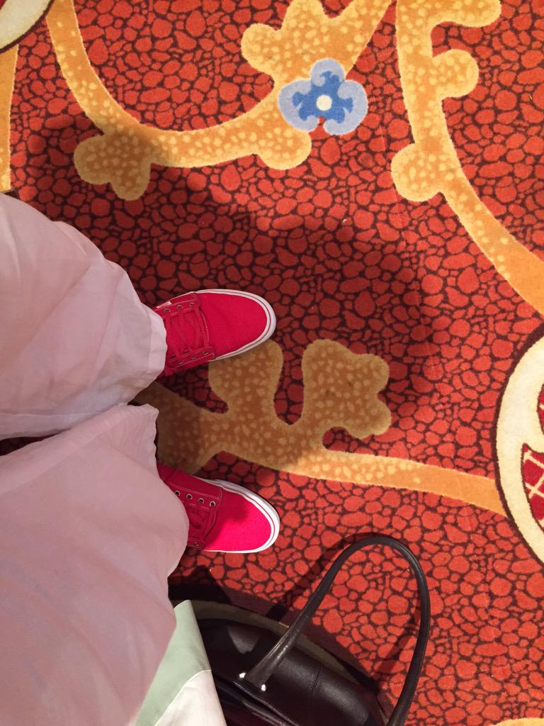 WebShopApps: I'm so tired if you want to talk to me I'm propped up near the cabana bar. Spot the red shoes #ImagineCommerce http://t.co/nRddyzzBXb