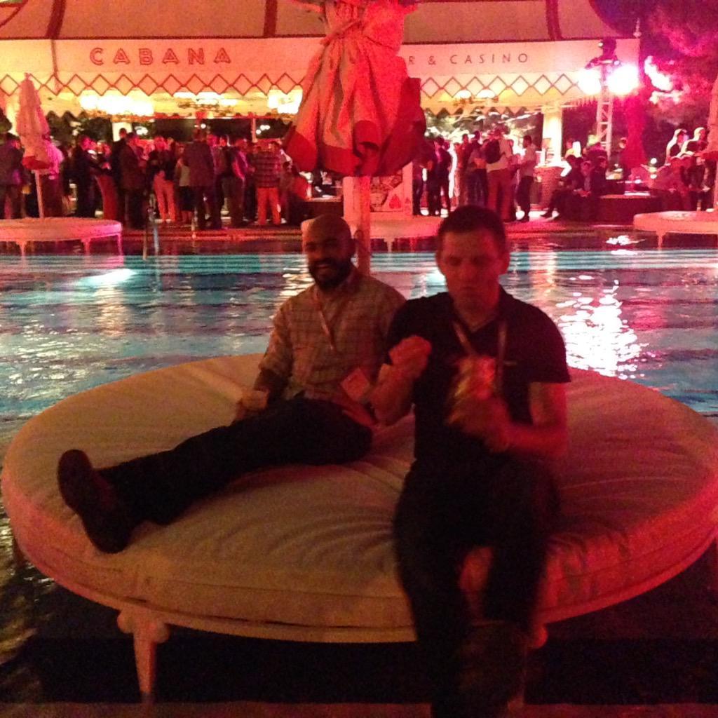 lfolco: @_Talesh chillaxin by the pool #ImagineCommerce http://t.co/Xmz5vGdJi7