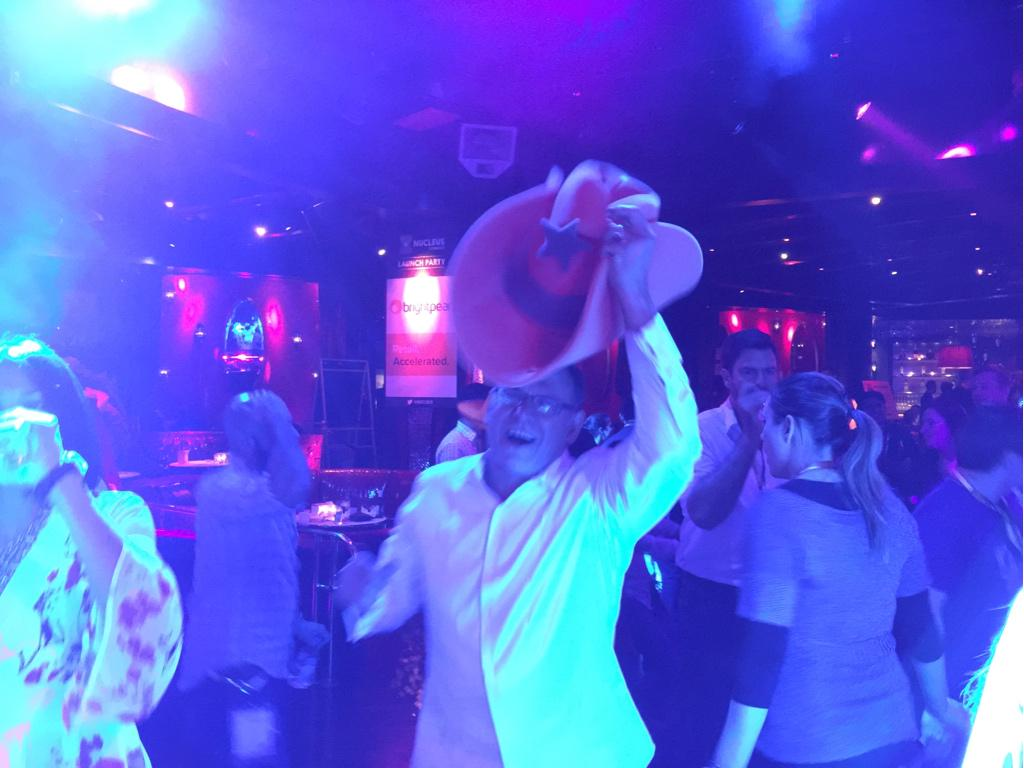 JoshuaSWarren: The @creatuity giant orange cowboy hat is now being passed around #nucleus launch party dance floor! #imaginecommerce http://t.co/IJS4Kr0NbM