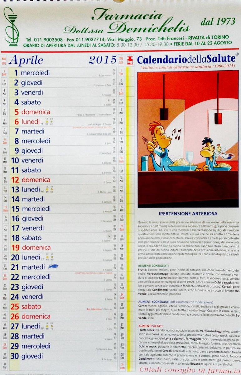 Calendario Della Salute.Farmacia Demichelis On Twitter Calendario Della Salute