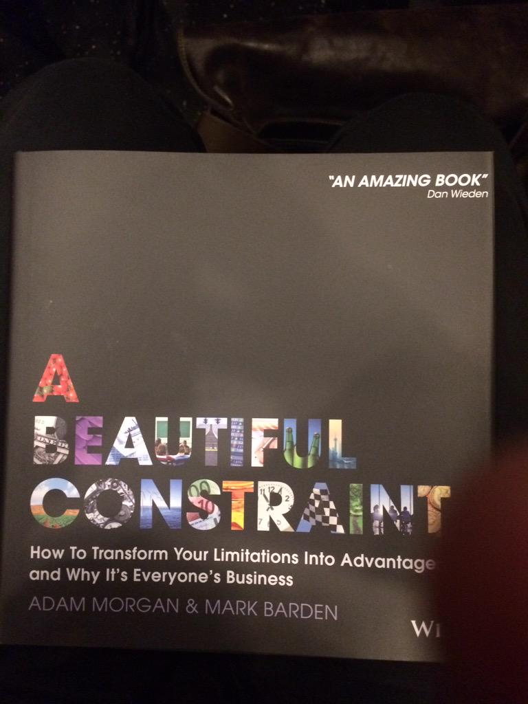 At the @HallandPartners book morning listening to Adam Morgan on his new book 'A Beautiful Constraint' #ABConstraint http://t.co/VlPAZwGelI