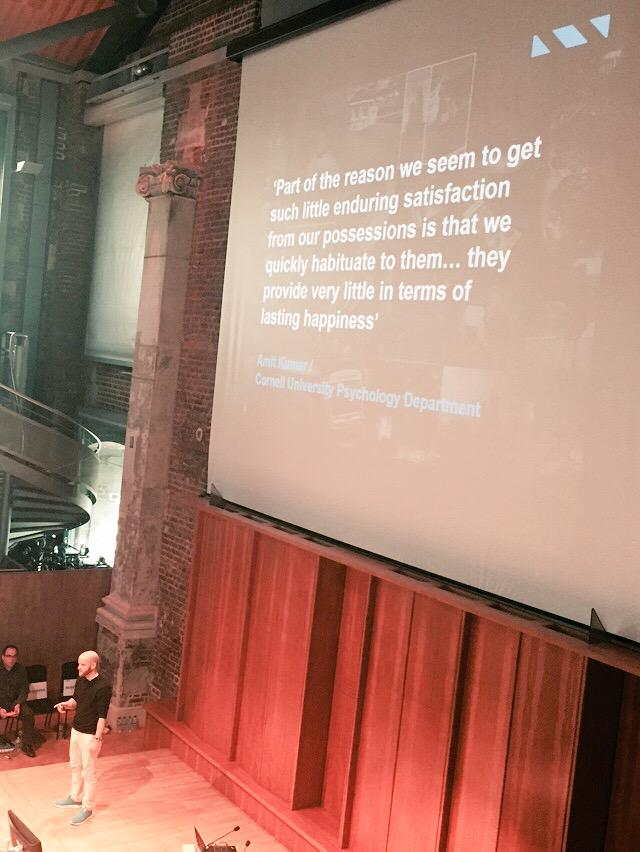 'Our experiences keep us alive while our possessions gather dust' @WillSansom #contagiousNNW http://t.co/X0VS4UyLIq