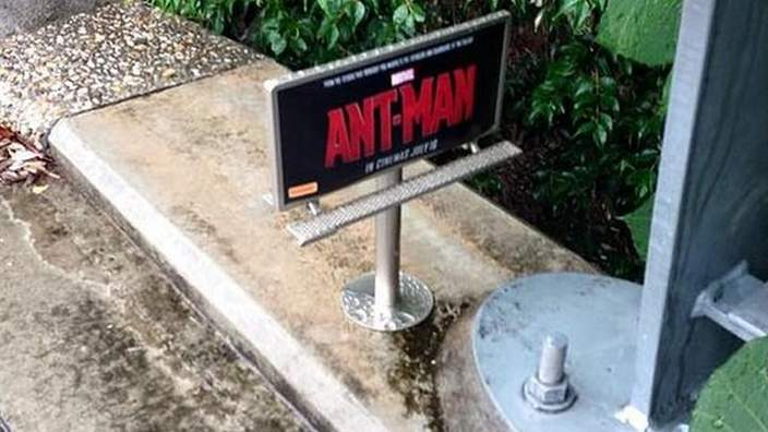 RT @BBCNewsEnts: Tiny billboards are apparently popping up in Australia to advertise the new Ant-Man film. http://t.co/khHtyF0fS2 http://t.…