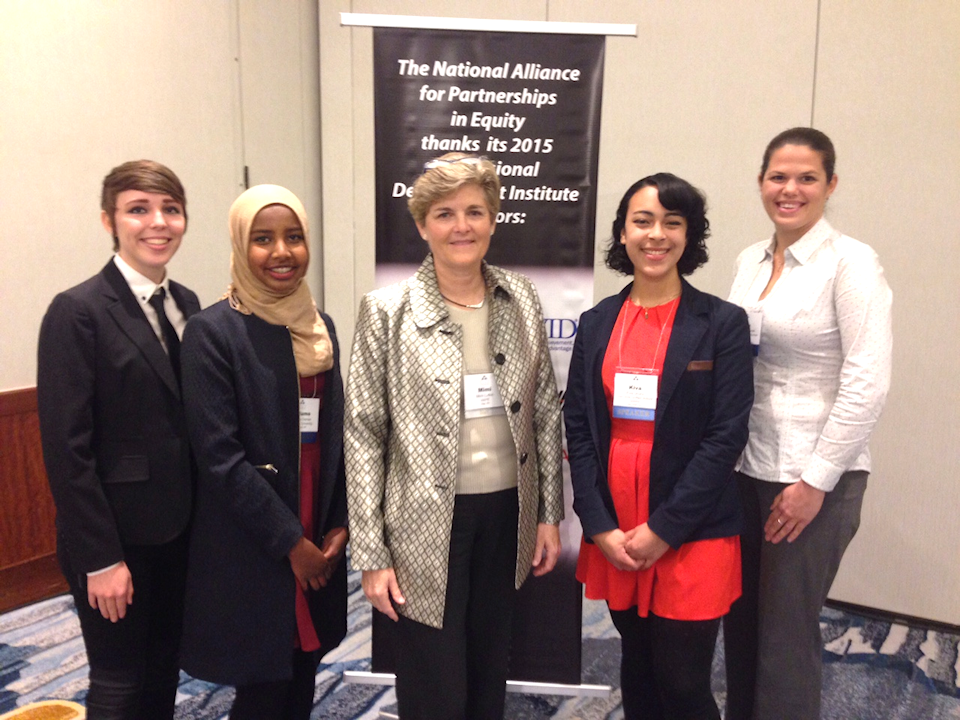 NAPE Executive Director @mimi_lufkin with San Jose HS students - STEM Equity Pipeline Team #NAPE2015 @NAPEquity http://t.co/EH9ss8nZQo