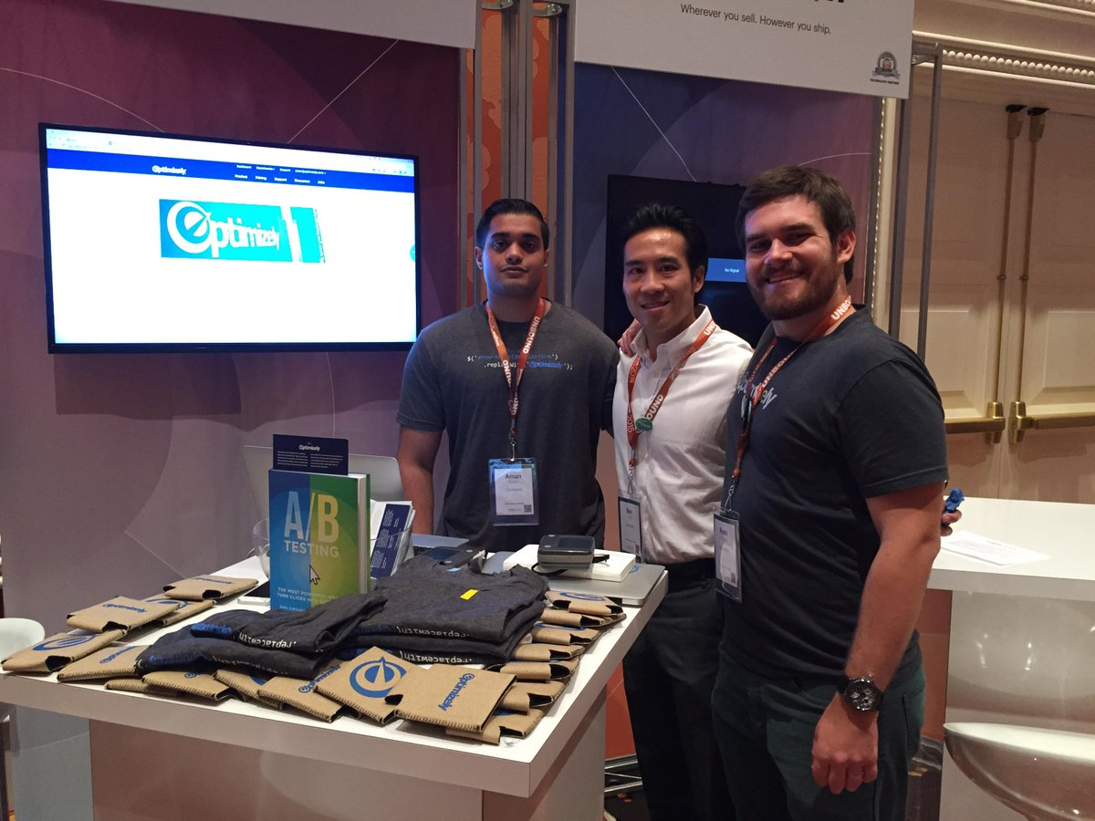 Optimizely: We're at #imaginecommerce, hanging out at booth 13! http://t.co/f80OJbRJYa
