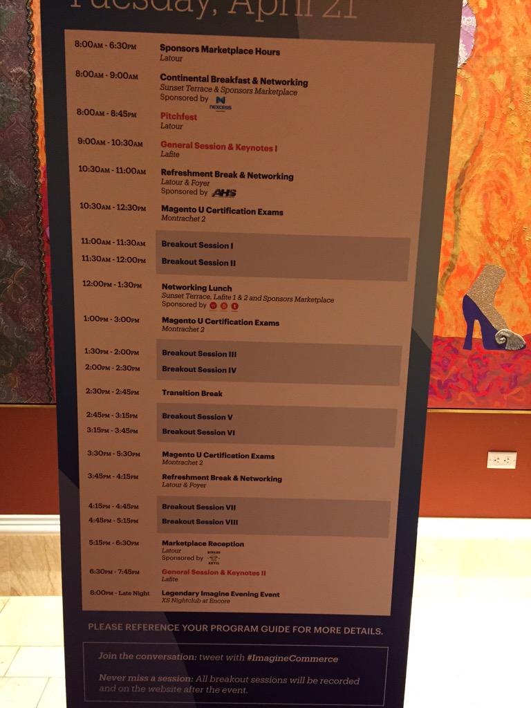 DCKAP: Here is the agenda for Day 2 #ImagineCommerce http://t.co/IkWnCQ7f6b