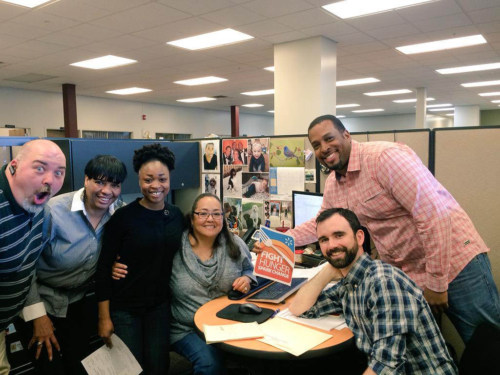 Our staff is excited to help @Walmart reach their $1.5 million goal for @FeedingAmerica #WeSparkChange http://t.co/USP5AMrNae