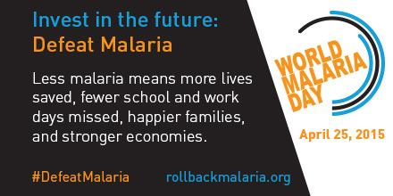 Less #malaria means more kids in school & stronger economies. #DefeatMalaria #WorldMalariaDay http://t.co/EryNsh61Dw