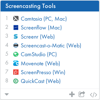 Do you want to make screencasts and tutorials? Here my favorite top 10+ screencasting tools http://t.co/Ycclj0UT2t http://t.co/xq2YEr6tvk