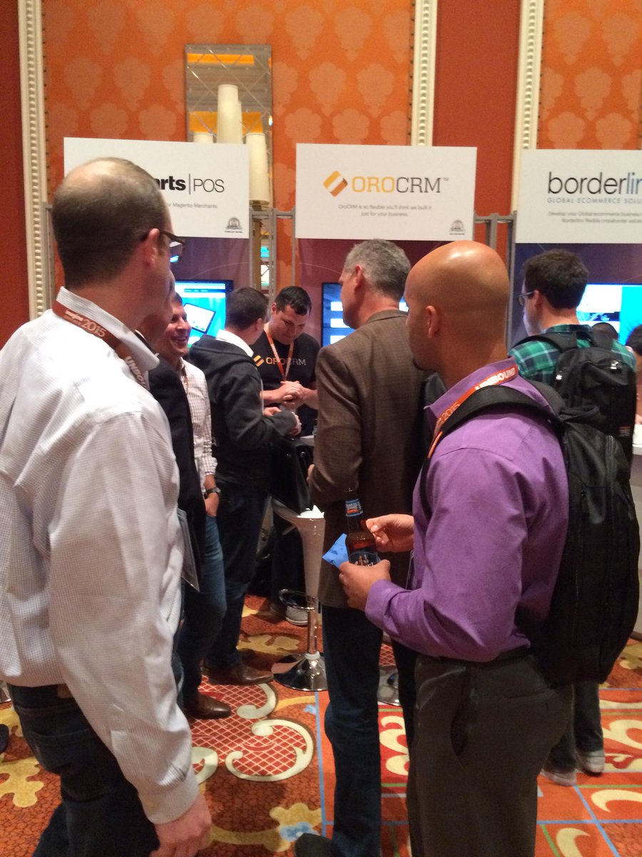 OroCRM: #OroCRM team was extremely busy at the opening day of #ImagineCommerce Market Place. Ready for day 2 http://t.co/WF2UyD44A0