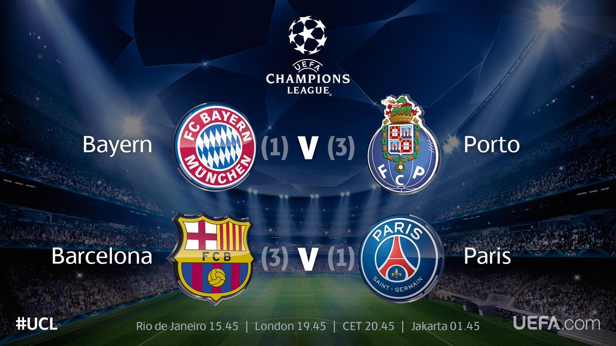 Champions League Football TV Channels: April 21