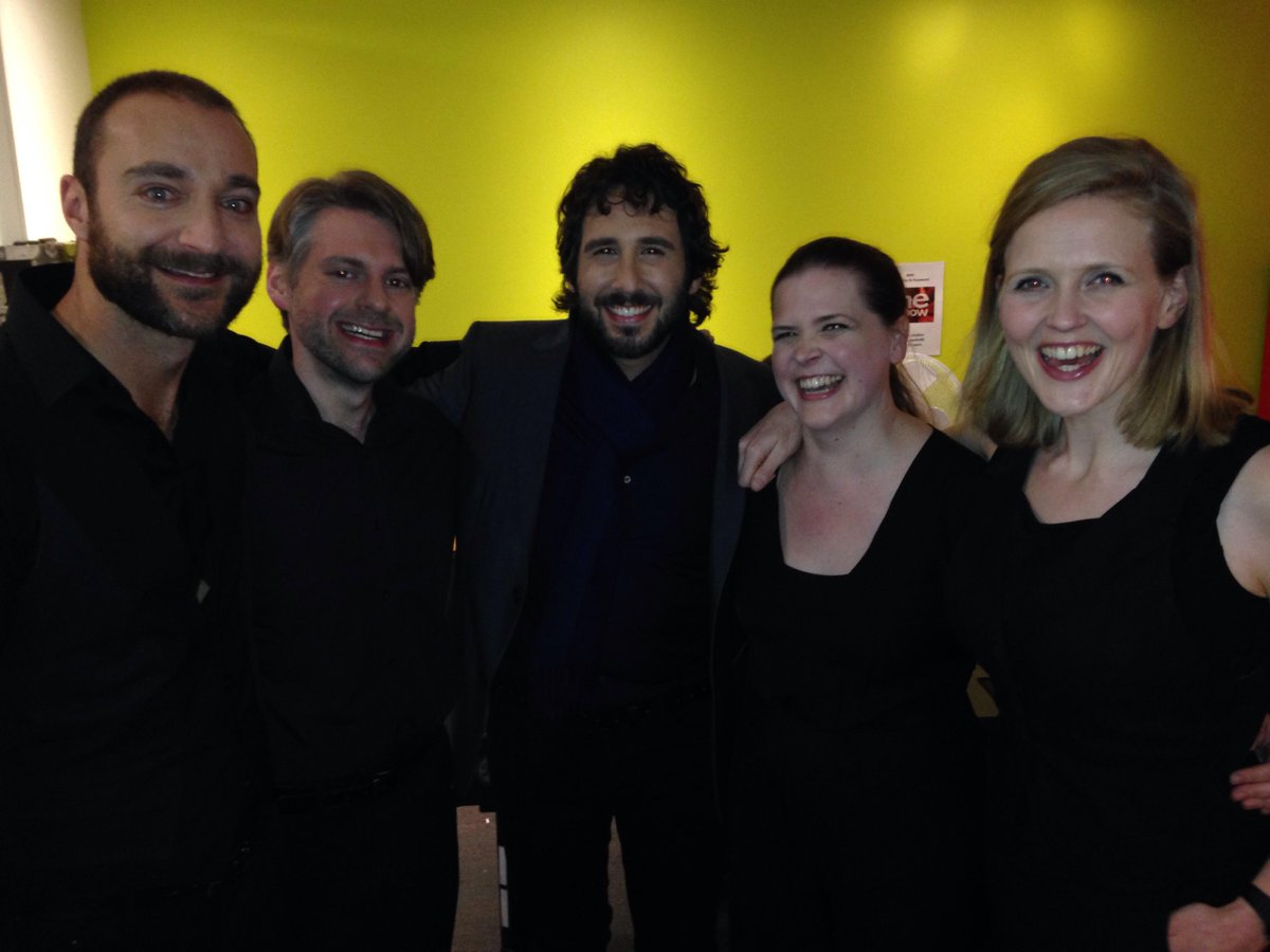 Thanks for having us #theoneshow - what joy to meet (and hear) @joshgroban fun fun fun! http://t.co/Y7gLHwoSFN