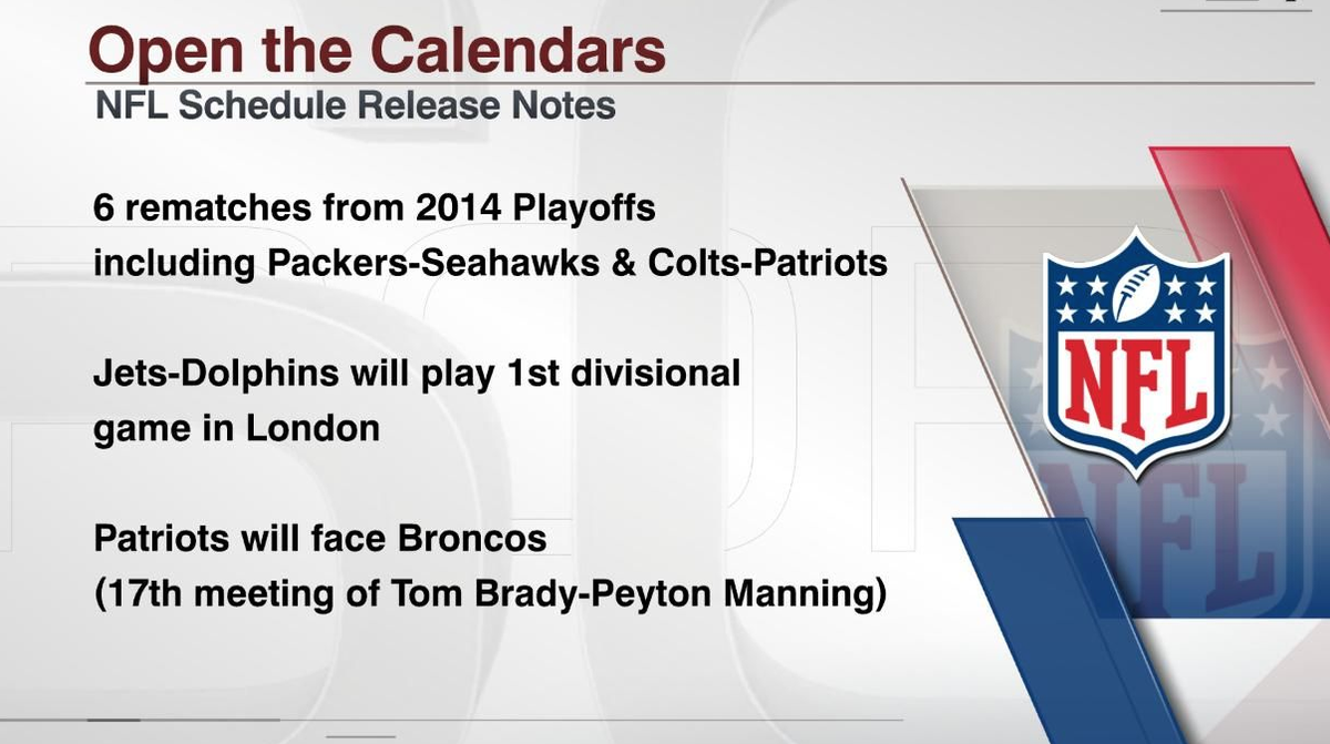 nfl on espn on twitter get ready nfl fans the 2015 schedule is