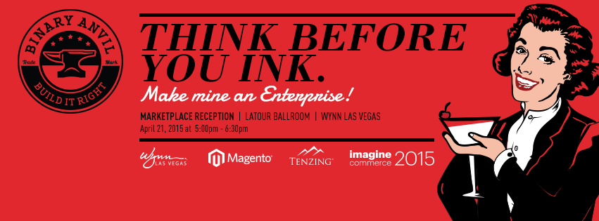 TenzingHosting: Are you coming to this afternoons reception? #MagentoImagine #ImagineCommerce hosted by @Binary_Anvil http://t.co/ixNIZfjUrQ