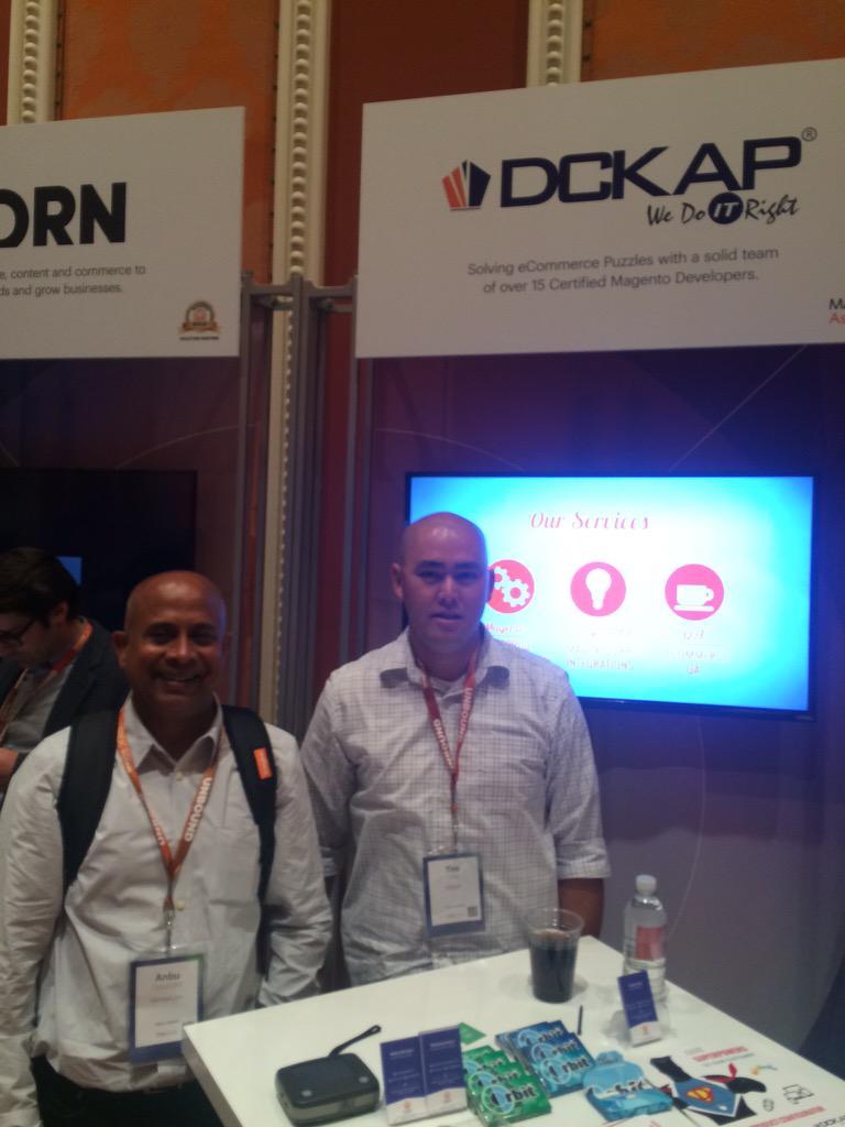 DCKAP: meet @DCKAP in booth 28 #ImagineCommerce http://t.co/17XW4B8Ej0