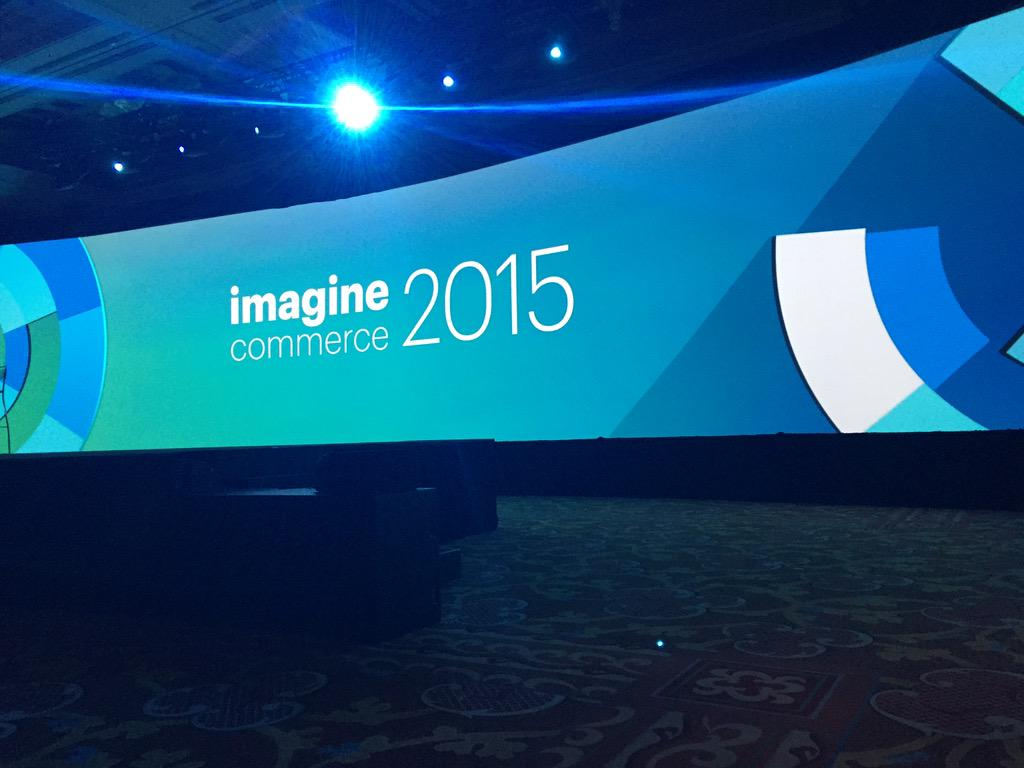 mlynneperez: That's one giant projection screen #ImagineCommerce day 2 lets do this! http://t.co/5SIprDKDYj