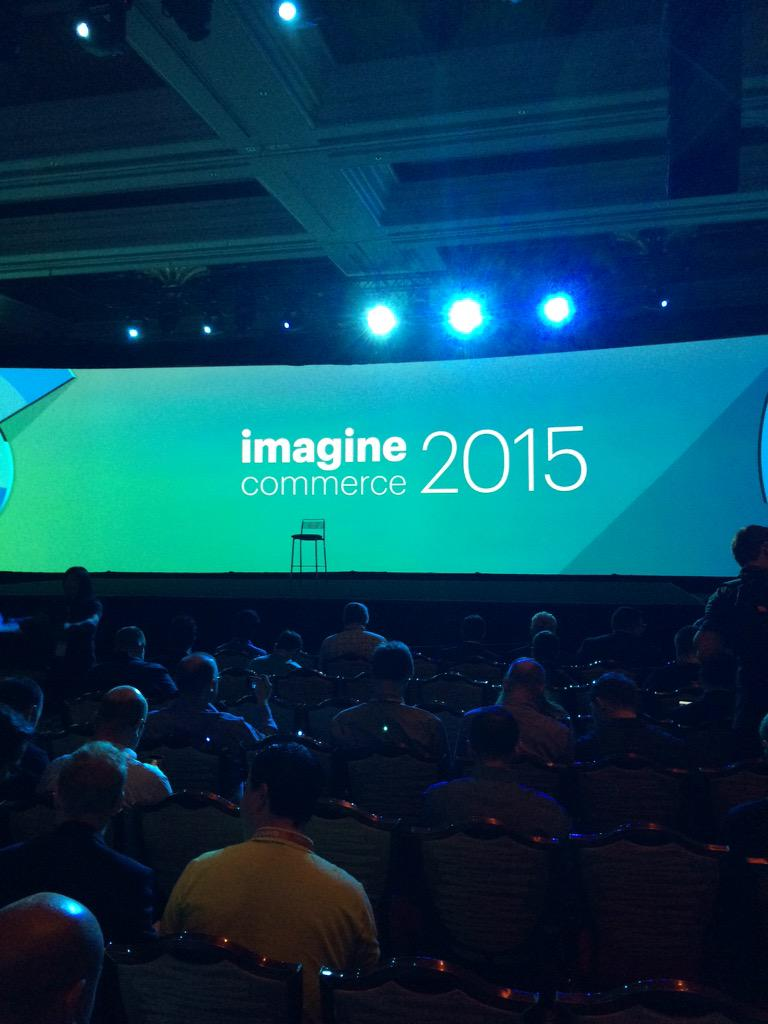 Hosting_Mike: Morning #keynote at #imaginecommerce http://t.co/PUDwPCKiGk