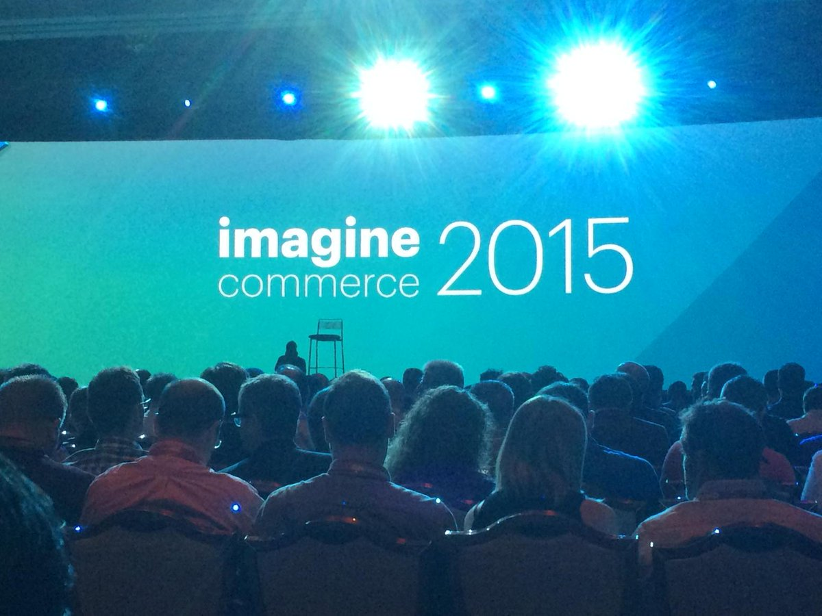 madiaecommerce: Ready for the Keynote @imaginecommerce http://t.co/H5VbQfVqjV