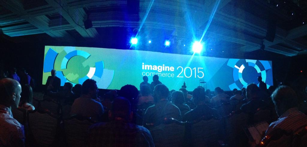 monocat: That's one giant screen. #ImagineCommerce http://t.co/o8S1AzGjB2