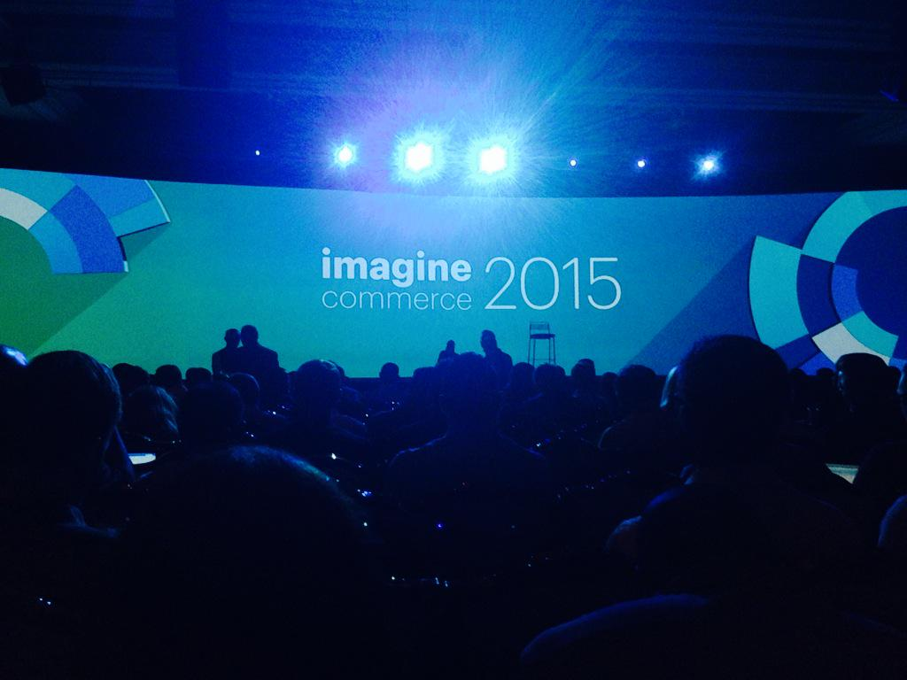 ProductPaul: #ImagineCommerce first general session starting The stage is so big I am 30 ft back and still can get it all in frame http://t.co/QZcSDAxFq3