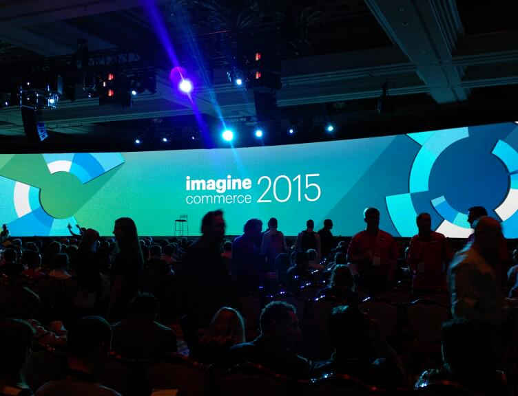 chasebadkids: General keynote about to start. It's filling up in here.  #ImagineCommerce http://t.co/IUBuzJTmuC