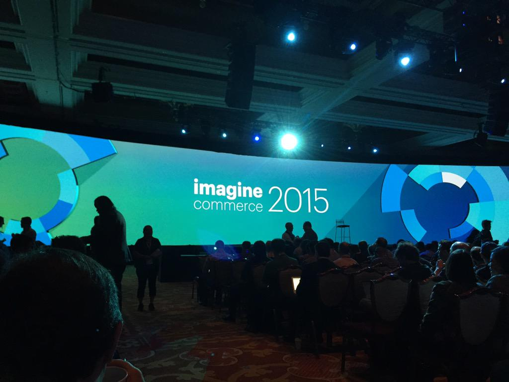KennaPoulos: Ready for day 2 of #ImagineCommerce  #showtime http://t.co/evV1eLO3hF