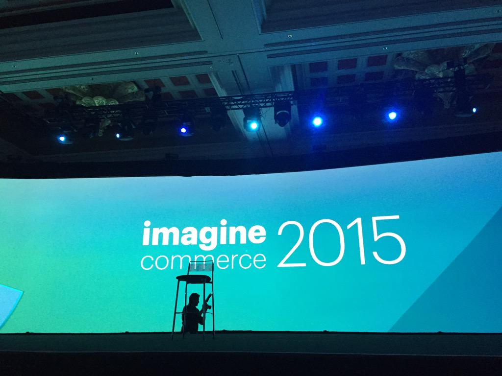 DCKAP: Getting ready for keynote 60 more seconds #ImagineCommerce http://t.co/b5Byc7b1zl