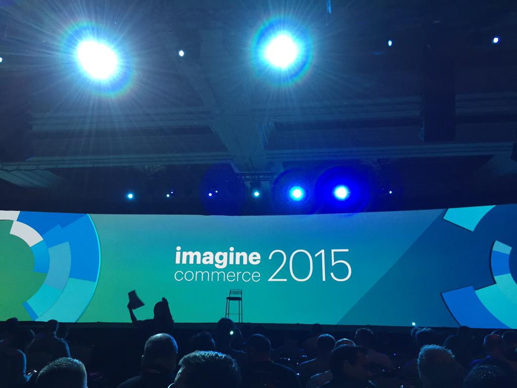 Michelledrucker: Ready for the first #MagentoImagine keynote. Let's do this! http://t.co/Lc0p35Brab