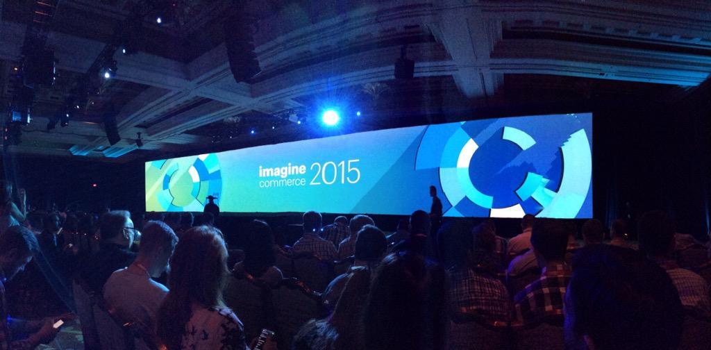benjaminrobie: Big keynote stage at #ImagineCommerce http://t.co/xfvm86TKjg
